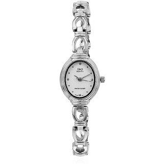 Q&Q Superior Series Silver/White Analog  Watch- R367-201Y