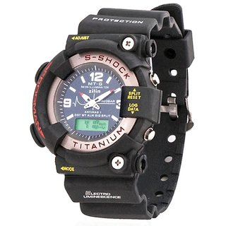 Mens S-Shock Digital Analog Titanium Sports Watch For Mens With BlackDial