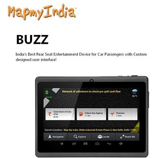 MapMyIndia Buzz Car Entertainment And Android Navigation Device