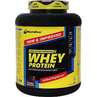 MuscleBlaze Whey Protein 4.4 lb (2 kg) Rich Milk Chocolate