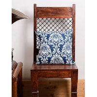 Dark Blue Print Cushion Cover Pillow Cover 2 Pcs Set