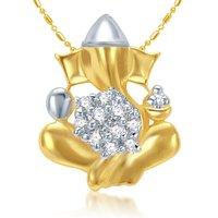 Sukkhi Cubic Zirconia Studded Ganesha Pendant With Chain (Design 18)