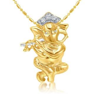 Sukkhi Cubic Zirconia Studded Ganesha Pendant With Chain (Design 2)