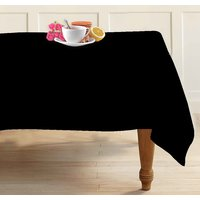 Airwill Solid Black 4 Seater Table Cloths In Black