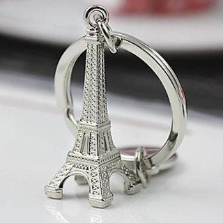 Set Of 2pcs Eiffel Tower Keychain Fashion Romantic Metallic Key Chain QTY-2pcs