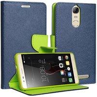 Mercury Goospery Fancy Diary Wallet Flip Cover for LENOVO vibe K5 Note Blue by Mobimon