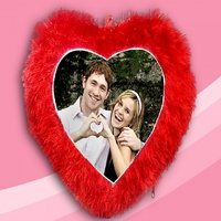 Personalized Heart Shape Love Soft Cushion Pillow