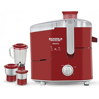 Maharaja Whiteline Desire Juicer Mixer Grinder Red And White