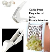 Buy Online Steel Garlic Ginger Press Clamp Crusher Daily Kitchen Gadget Tool