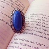 Blue Adjustable Ring