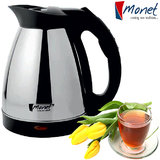 Monet Stainless Steel Electric Cordless Kettle 1.6 Ltr.