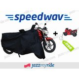 Speedwav Universal Size Bike Motorcycle Body Cover Black Color With FREE Superbike Keychain