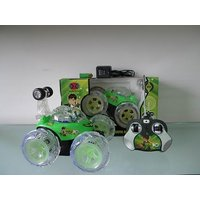 BEN 10 STUNT CAR REMOTE CONTROL RECHARGABLE LIGHT MUSIC TOY GIFT KIDS TOYS BEN