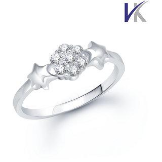 VK Jewels Fancy Cubic Zirconia (CZ) Rhodium  Ring - FR1014R