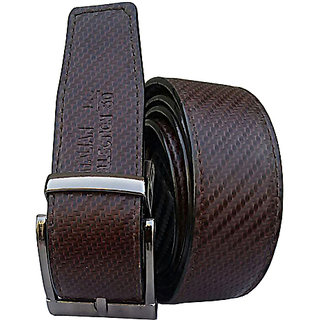 Reversible Pu Leather Belts For All Seasons Formal Semi Formal Self Textured