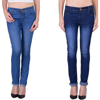 Balino London Dark Blue Light Blue Jeans For Women