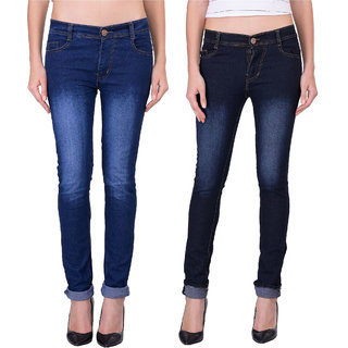 Balino London Dark Blue Black Jeans For Women