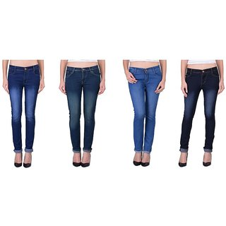 Balino London Multicolor Jeans For Women (Pack Of 4)