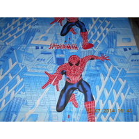KIDS COLLECTION:SUPERB QUALITY SPIDERMAN SINGLE BED SHEET WITH ONE PILLOW COVER