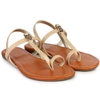 Do Bhai Sandal-Nagin-Cream Sandals for Women