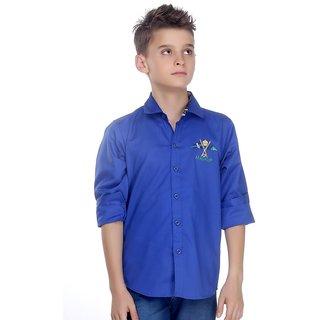 Mash Up Polo InspiBlack;Blue Blue Cotton Shirt For Boys.
