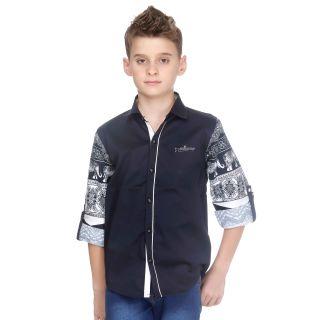 MashUp Print Mania navy blue designer shirt