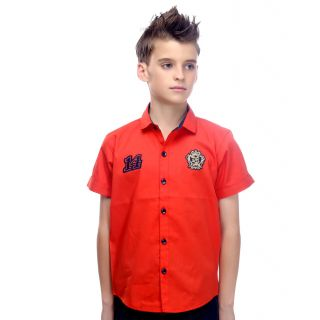 Mash Up Classic Casual Self Checks cotton shirt for boys.