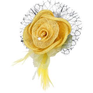 ILU Bun Flower Hairclip Hair Accessories for Women Haie Piece Head Piece