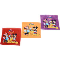 Disney Mickey Pluto Minnie Kids Baby Face Napkins - Set Of 12