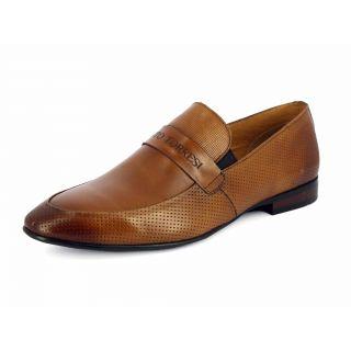 Alberto Torresi Mens Camel Formal Shoes