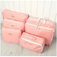 Travel Luggage Organizer - 5 Pcs Set - Pink_P1B37