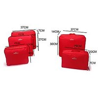 Travel Luggage Organizer - 5 Pcs Set - Red_P1B39