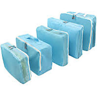 Travel Luggage Organizer - 5 Pcs Set - Blue_P1B38