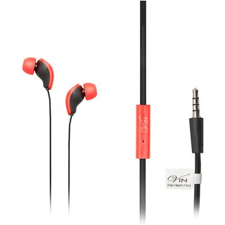 Vin Hip-Pop 888 In Ear Wired Earphones With Mic Black HP-888