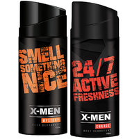 X-MEN Deodorant Spray Mystery+Charge (Pack Of 2 X 150 ml)
