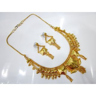 One Gram Gold Plated Beautiful Jewellery Set with Earrings