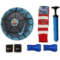 Shoppers FCB Blue Football (Size-5) Combo