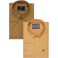 London Looks Full Sleeves Casual Shirts For Men (Pack of 2)