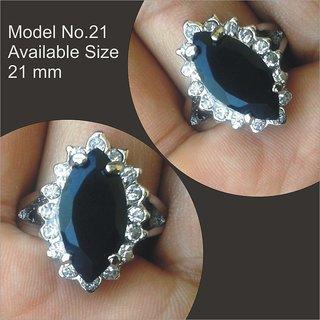 Big Rhinestone Crystal Ring - Ziron Silver Imported