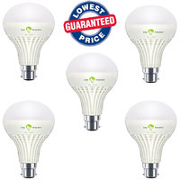 9w Bright White Light Led Bulb Saving Energy 1 Set Of 5 Pcs.