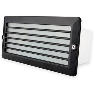 Fos Lighting Recessed Water Resistant Black Louver Foot Light