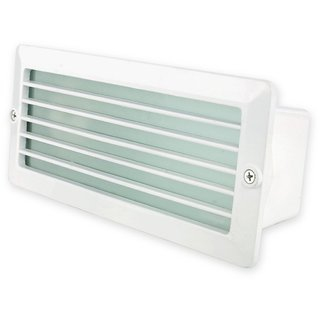Fos Lighting Recessed Water Resistant White Louver Foot Light