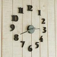 3D DIY Self Adhesive Decal Modern Digit Room Interior Decoration Wall Clock