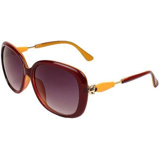 Zyaden Maroon Oversized Sunglasses Women 396