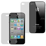 Apple Iphone  4S Ultra Clear Front + Back Screen / Scratch Guard / Protector