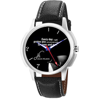 Jack klein GRP-1212 Synthetic Leather Analogue Wrist Watch For Men Women