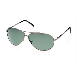 Fastrack Green Polarized Aviator Unisex Sunglasses