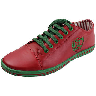 Doc & Mark Men'S Red Genuine Leather Sneakers