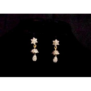 Marvina Designer Jhoomki Small Earings With Stones And Gold Finish Design2