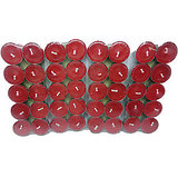 Pack Of 40 Scented Red Tealight T-lite Candles For Diwali Birthday Party Gift
